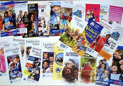 GIRL GUIDE BROCHURE COLLECTION Girl Guides of Canada Sparks Brownies Rangers GGC