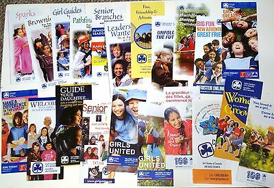Girl Guides of Canada BROCHURE COLLECTION Girl Guide Sparks Brownies Rangers GGC