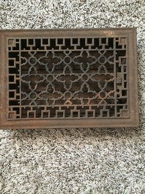vintage Antique cast iron heat grate Wall Vent Ceiling Vent