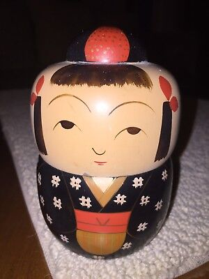 Japanese Lacquer Ware Container Vintage