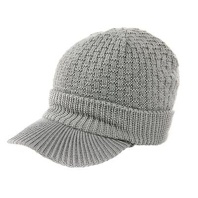 532738d9aad SIGGI UNISEX MENS Wool Cable Knit Visor Beanie Jeep Cap Winter Newsboy Hat  for -  20.47