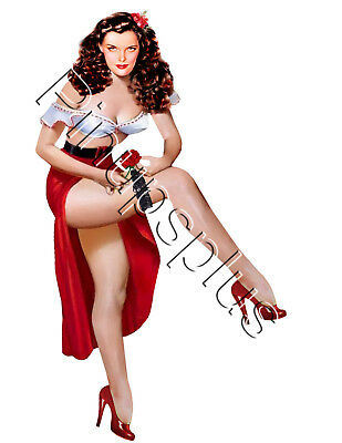 Jane Russell Gorgeous Legs Pin up Girl Pinup Babe Waterslide Decal Sticker S620