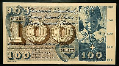 Switzerland 100 Francs 1967 (Xf) Lot #2