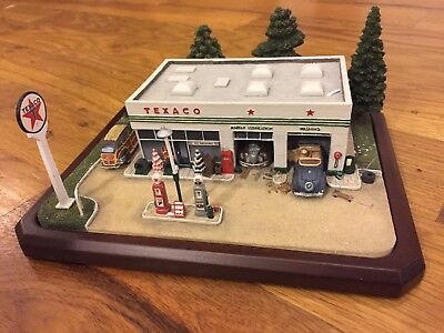 Danbury Mint Texaco Service Station Model Vtg Gasoline Gas Pump 1950's Display