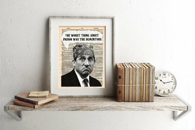 The Office Michael Scott Prison Dictionary Art Print