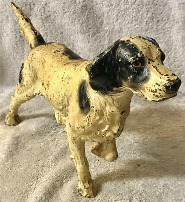 "Vintage Cast Iron Irish Setter Dog Door Stop / Bank - 9"" tall by 15 1/2"" Long"