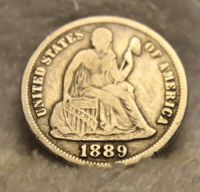 1889S seated dime