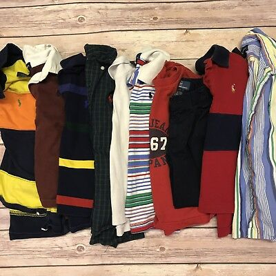 3T 4T Boys Polo Ralph Lauren Lot Clothing Shirts Pants Collared Rugby Toddler