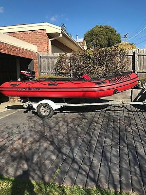 Inflatable boat- 2011 Mercury Quicksilver 4.3mts with 2011 Mercury 30HP