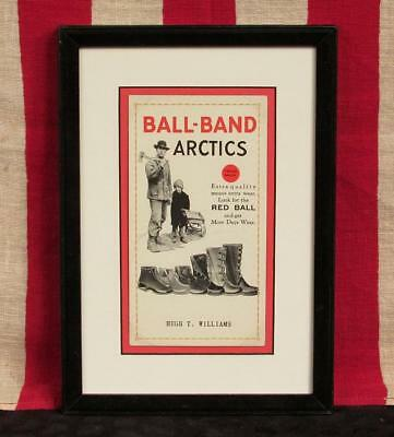 Vintage 1930s Ball Band Arctics Rubber Boots Footwear Advertising Ink Blotter