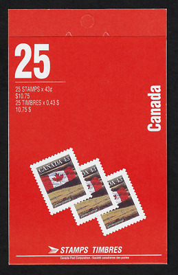 Canada Stamps - Booklet of 25 in Cover - Flag over Field #1359b (BK154) - MNH