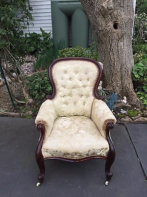 Antique Victorian Cedar 'Gents' / Bedroom Arm Chair!
