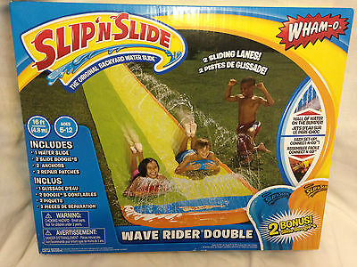 Brand New Double Slip N Slide Wave Rider Wham - O Slide Boards Wall Of Water