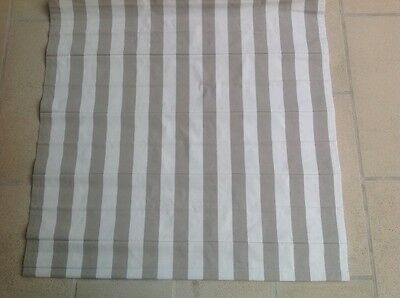 roman blind beautiful beige / white striped textured fabric, Full Block out