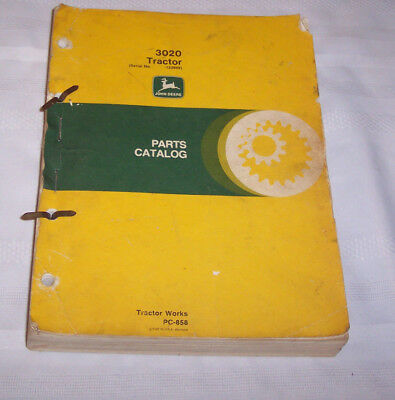 John Deere Tractor Manual 3020 Tractor Parts Catalog Tractor Works PC-858