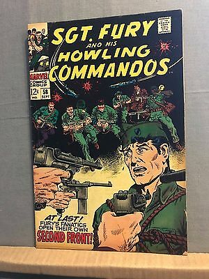 Sgt Fury and his Howling Commandos # 58 (Sep 1968, Marvel)