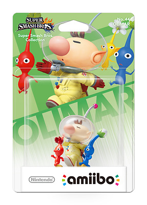 Nintendo Amiibo Character Olimar Pikmin For Wii 3DS Super Smash Bro Collection