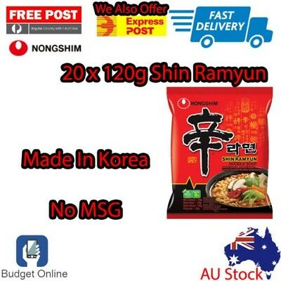 20 x 120g Nongshim Shin Ramyun Instant Noodle Soup Gourmet Spicy Made In Korea