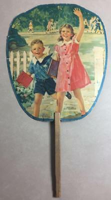 Vintage Advertising HAND FAN White Dove Flour, Midway KY Children~ Our Treasures