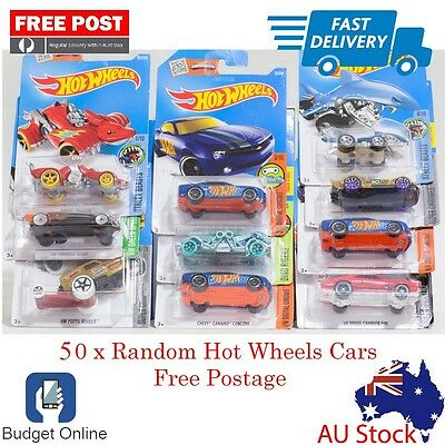 50 x Random Brand New Hot Wheels Showdown Diecast Cars Fast Shipping From Melb