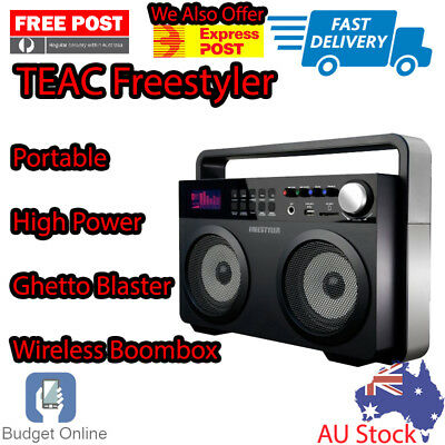 TEAC Freestyler Portable High Power Ghetto Blaster Wireless Boombox USB FM Radio