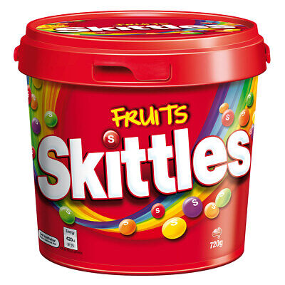 Skittles Fruits Bucket 820g Sweets Candy Snack Fun in the mouth Fruity flavours