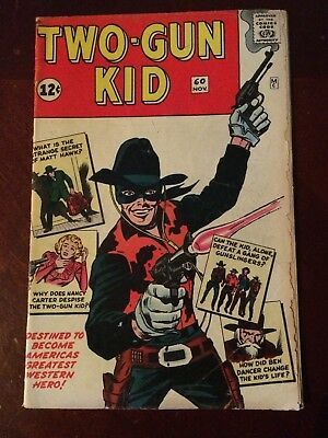 Two-Gun Kid #60 - Origin issue - Stan Lee and Jack Kirby - Kirby cover/art -