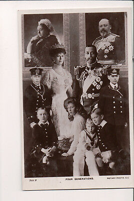 Vintage Postcard King George V & Queen Mary of Great Britain & Family