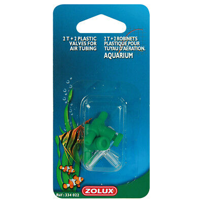 Zolux - Lot de 2 Raccords + 2 Robinets en Plastique pour Pompe à Air d'Aquarium