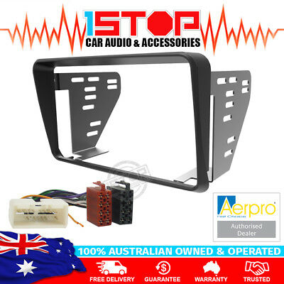 Ford Falcon Au Series 1-3 Black Double-Din Facia Fascia Kit + Iso Wiring Harness