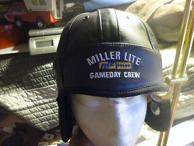 Miller Lite Gameday Crew Hat Throw Back Style Helmet Great for Tailgating/Game
