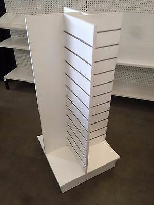 "600mm wide 4 way slatwall gondola display unit BRAND NEW ""OUT OF STOCK"""