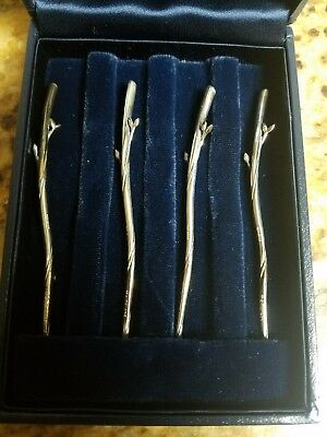 Tiffany & Co Sterling Silver Tree Branch Cocktail Picks w/ Original Box Rare NR