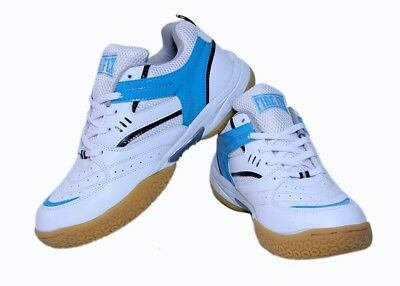 "Excel Badminton ""FireFly"" shoes With Non Marking Sole White & Blue/ @ Best Price"