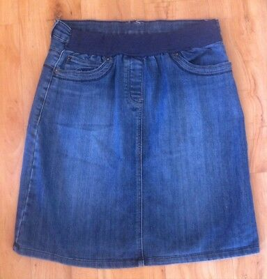 Ladies Blue Denim MATERNITY EXPRESSION Skirt Size 10