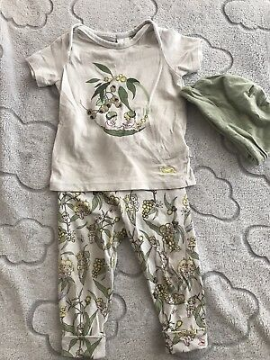 Peter Alexander Baby Unisex May Gibbs Pajamas With Hat Size 9-12 Months