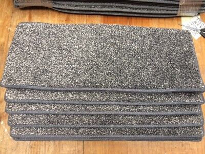 30	x	8.50	inches	(	76	x	22	cm)12x STAIR PADS / TREADS DARK GREY SOFT PILE #3309