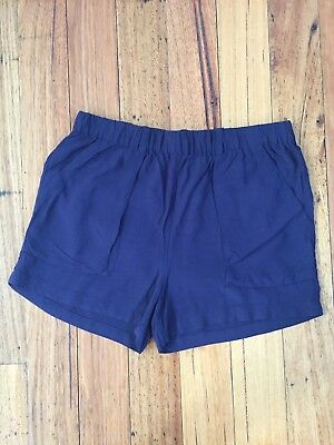 Excellent As New Condition Witchery Girls Navy Blue Shorts Size 14