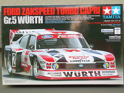 FORD ZAKSPEED TURBO CAPRI Gr.5 WURTH-TAMIYA PRECISION DETAILED MODEL-1/24 SCALE