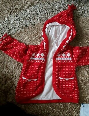 TU 12-18 months Girls knitted lined cardigan Baby Toddler