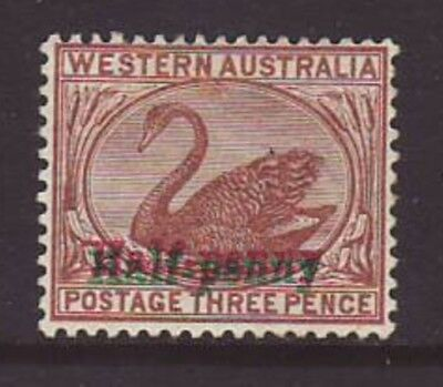 Western Australia 1893 1/2d Surcharge in green & red lightly mounted mint