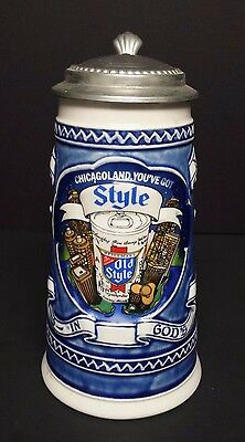 1982 Old Style Chicagoland lidded stein  226