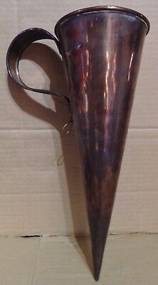 "A Vintage Copper 2 Pint Ale Muller / Measure ""donkey's Ear"" (Bb1)"