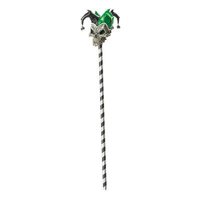 Amazing New Totally Ghoul Green Jester Cane Halloween Accessory Costume Twisted