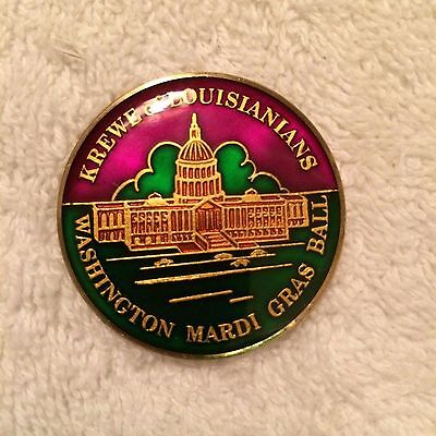 1979 Krewe of Louisianians Cloisonne Doubloon Multi-Color Washington Mardi Gras