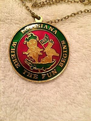 1983 Krewe of Louisianians Looped Cloisonne Doubloon Multi-Color Washington DC