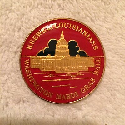 1977 Krewe of Louisianians Cloisonne Doubloon Multi-Color Washington Mardi Gras