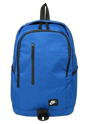 Nike All Access Soleday Backpack Rucksack School Bag Travel Gym Sports Blue