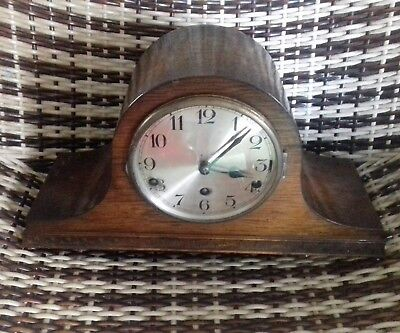 Vintage Antique Beautiful Swiss Wooden Mantle Clock
