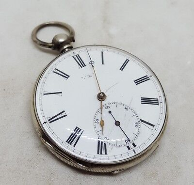 NICE Antique silver S. BARLOW A. GENEVE pocket watch c1900 working